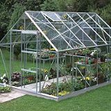 Save on this Model 12x8 - 8ft Single Door Greenhouse - Aluminium Frame + Toughened Glass + Base