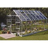 Save on this Model 12x8 - 8ft Double Door Greenhouse - Aluminium Frame + Toughened Glass + Base