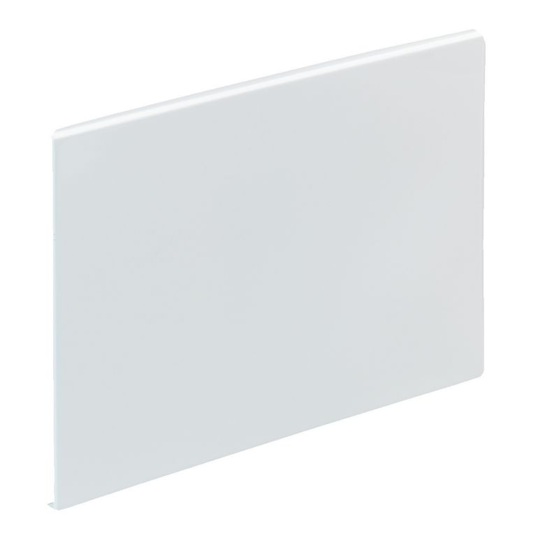 Straight Bath End Panel White (L)700mm
