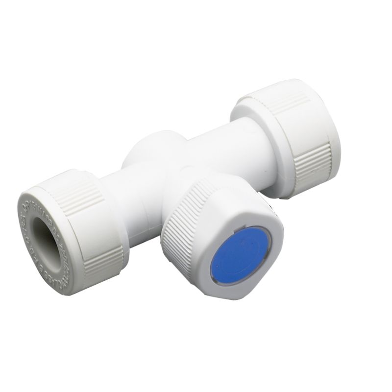 Plumbeasy Pushfit Shut-Off Valve PE15/600 White