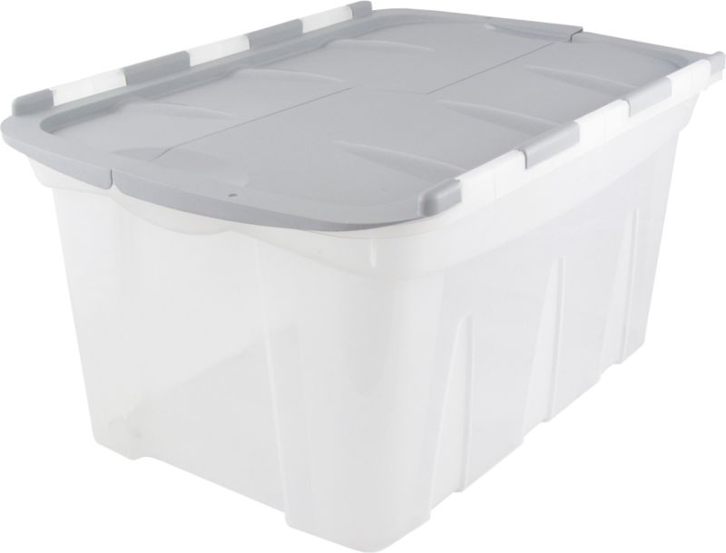 BandQ Form Large Locking Lid Crate Plastic Clear