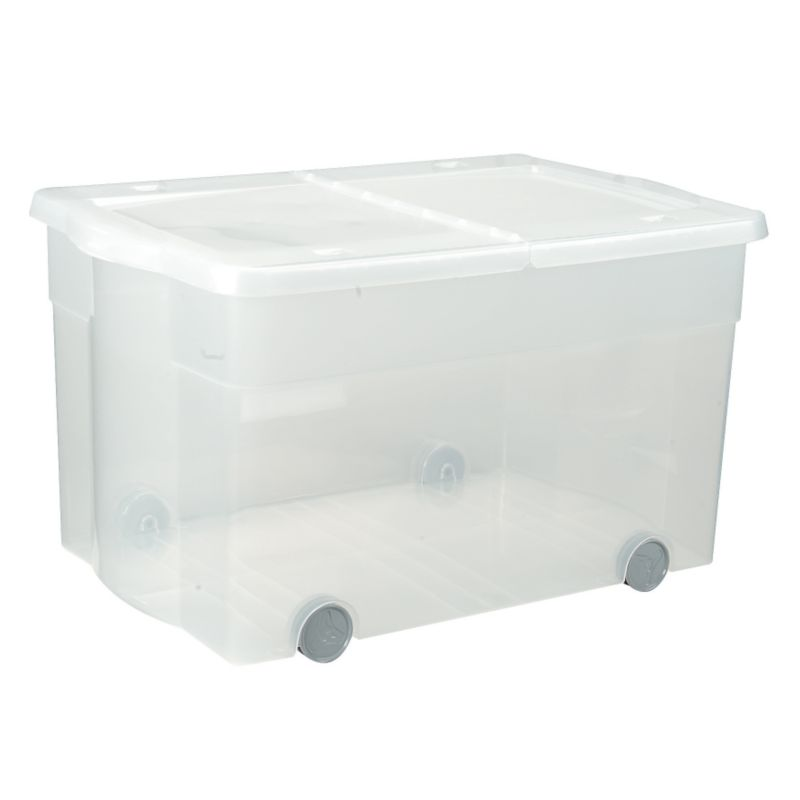 BandQ Rolling Box Complete With Lid Clear Base