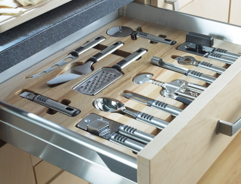 BandQ Premium Wooden Utensil Tray Set