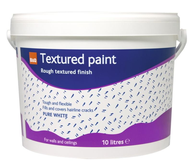 B&Q Textured Paint Pure White