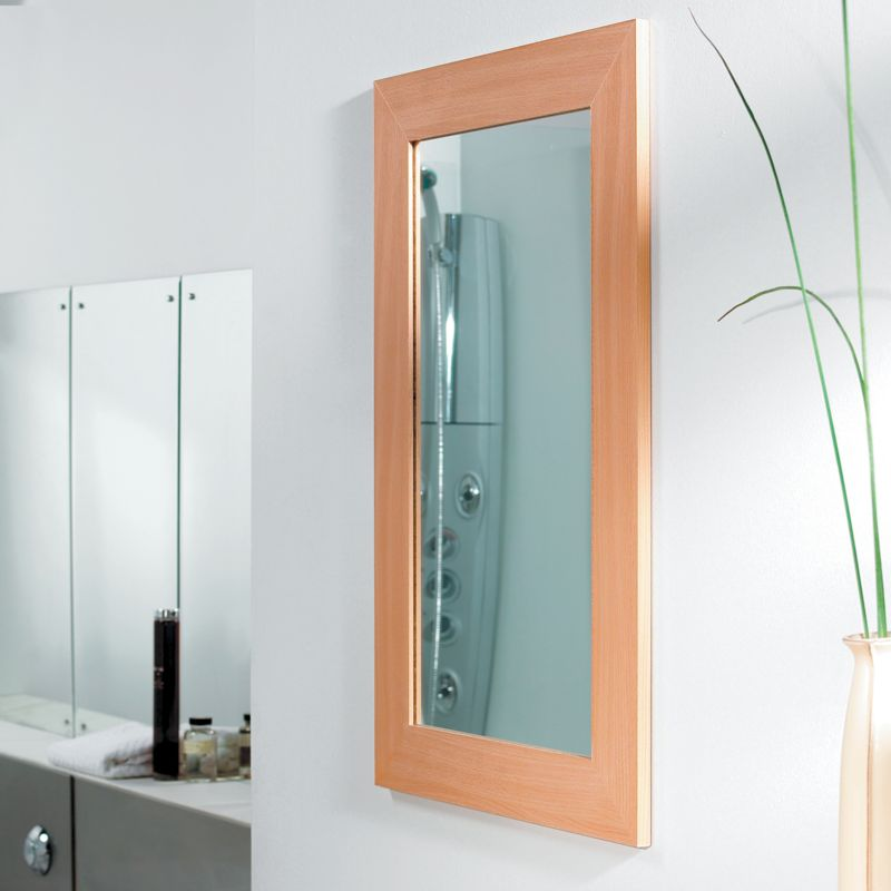 Bathroom Mirror Beech Effect