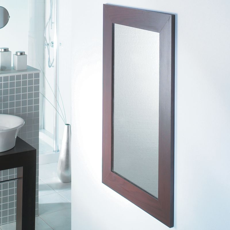 B&Q Bathroom Mirror PTAN8570 Hickory Effect