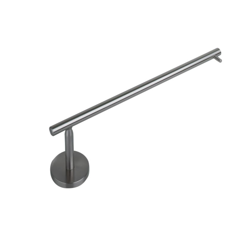 IT Kitchens Modern Wall Mounted Rod Kitchen Roll Holder Nickel Effect (H)85.5 x (L)305 x (W)54mm