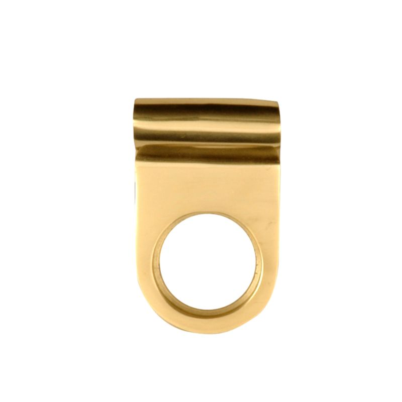 B&Q Cylinder Pull Brass Coloured