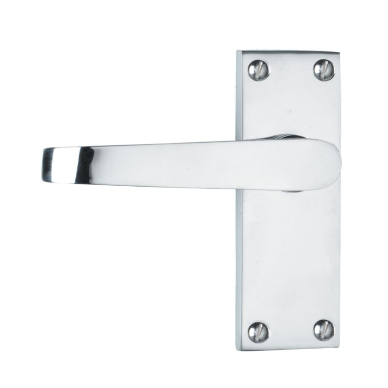 Cashback B and Q Value Door Handle Interior Door 3 Pack Polished ...