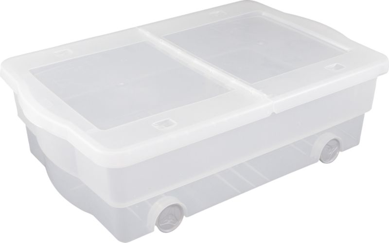 BandQ Form Small Under Bed Box Clear