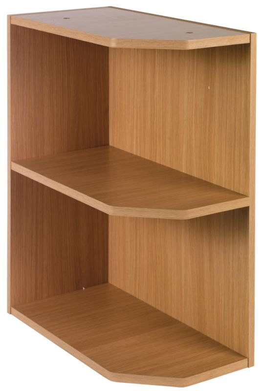 it Kitchens Oak Veneer Shaker Style Open End Base Unit 300mm