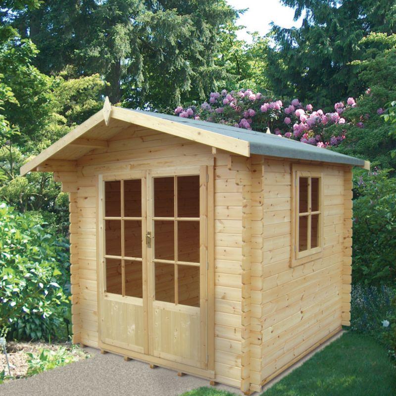 Fiston Log Cabin - (H) 2.4m x (W) 2.39m x (D) 2.39m