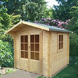 Save on this Fiston Log Cabin - (H) 2.4m x (W) 2.39m x (D) 2.39m