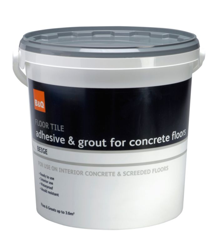 B&Q Floor Tile Adhesive & Grout For Concrete Beige