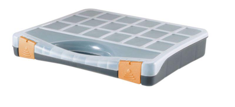 BandQ Organiser Grey/Orange (W)32cm
