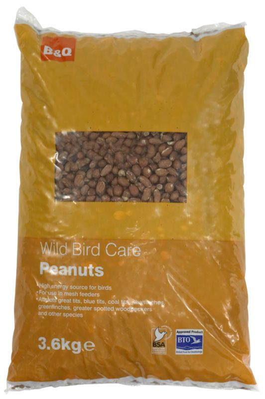 B&Q Peanuts For Wild Birds 3.6Kg