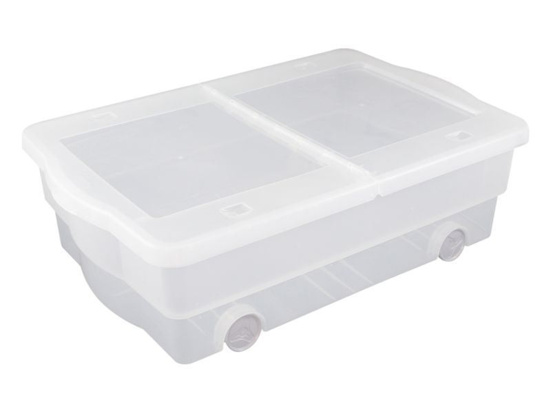 BandQ Form Rolling Underbed Box Large Clear