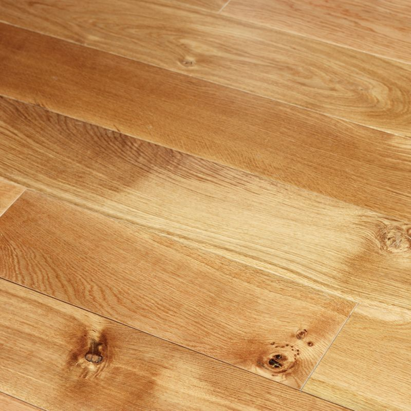 B&Q Select Solid Oak Flooring Natural 1.44 Sqm