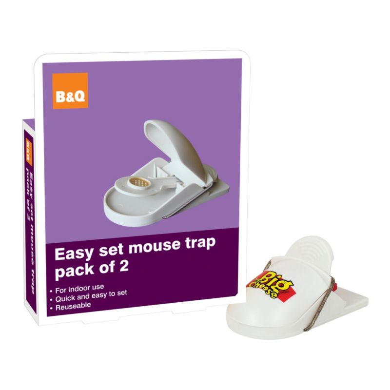 B&Q Easy Set Mouse Trap Twin Pack BQ140 Cream