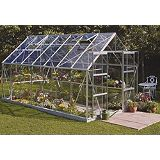 Save on this Model 10x8 - 8ft Double Door Greenhouse - Aluminium Frame + Toughened Glass + Base
