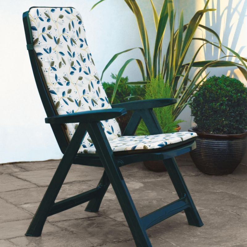 Warwick Multi Position Chair And Cushion Green