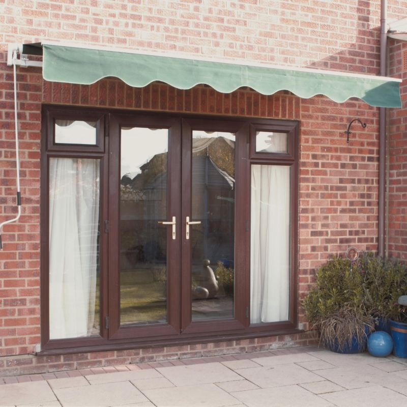 Green Manual Patio Awning 3x2m