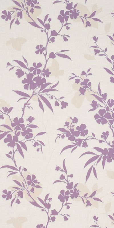 Colours by BandQ Vogue Wallcovering Cream/Damson