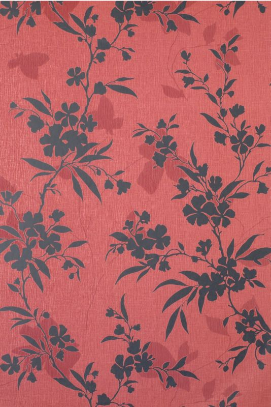 Colours by BandQ Vogue Wallcovering Red/Black 10M
