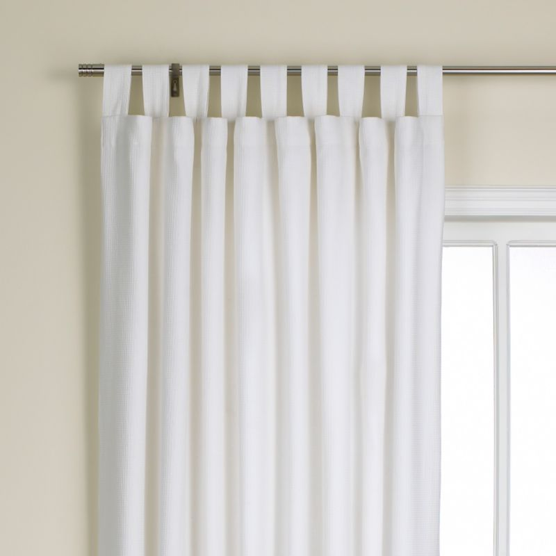 Colours by BandQ Waffle Tab Top Curtains White