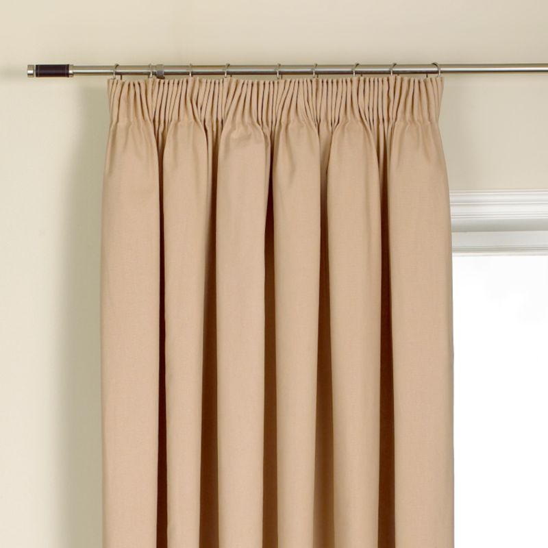 Colours by BandQ Mali Pleated Curtains Mushroom