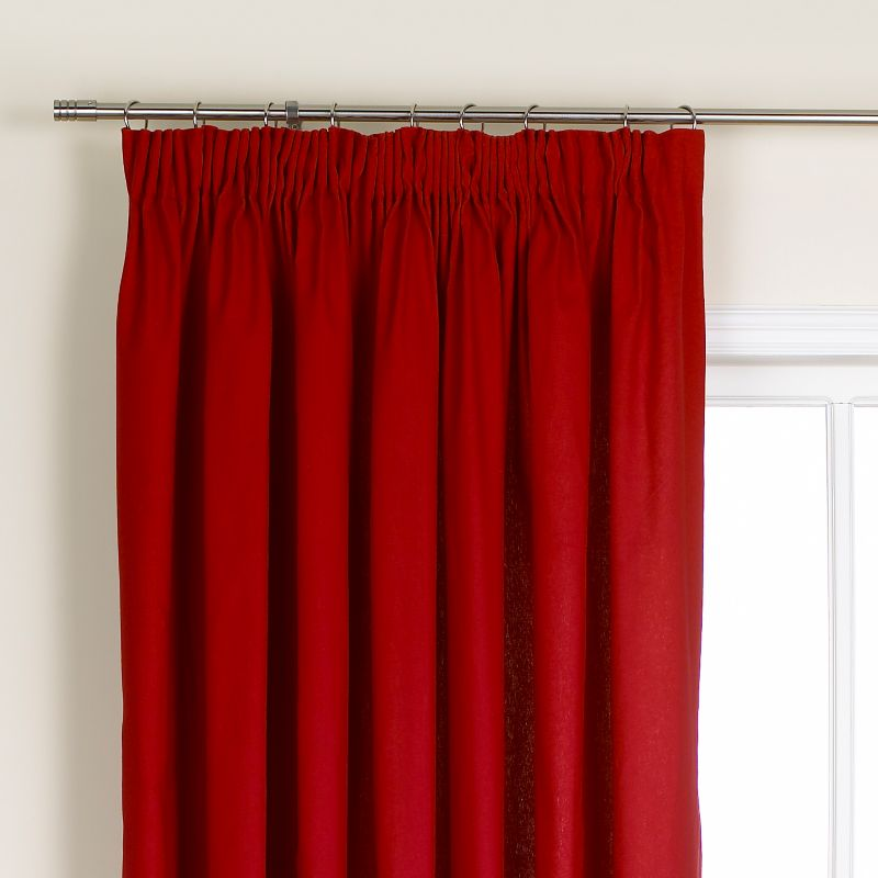 Colours by BandQ Mali Pleated Curtains Red