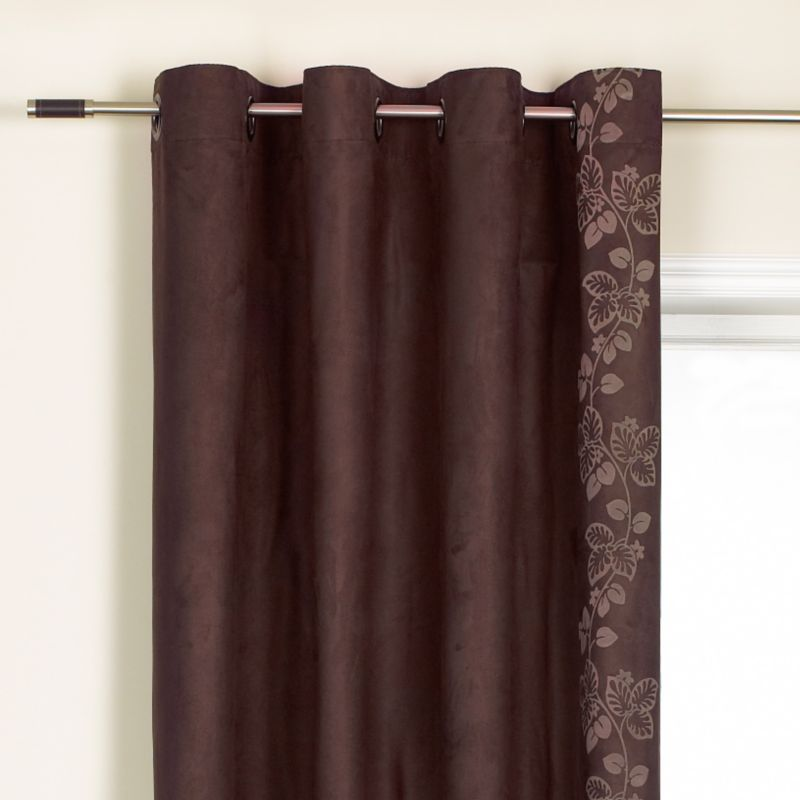 Colours by BandQ Allison Eyelet Curtains Chocolate
