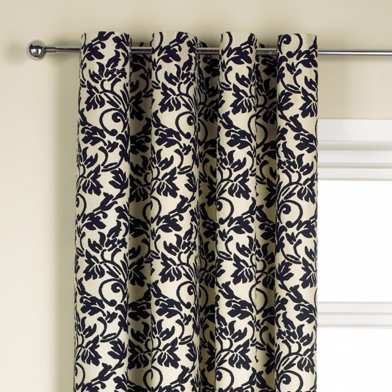 Colours by BandQ Hamilton Eyelet Curtains Black
