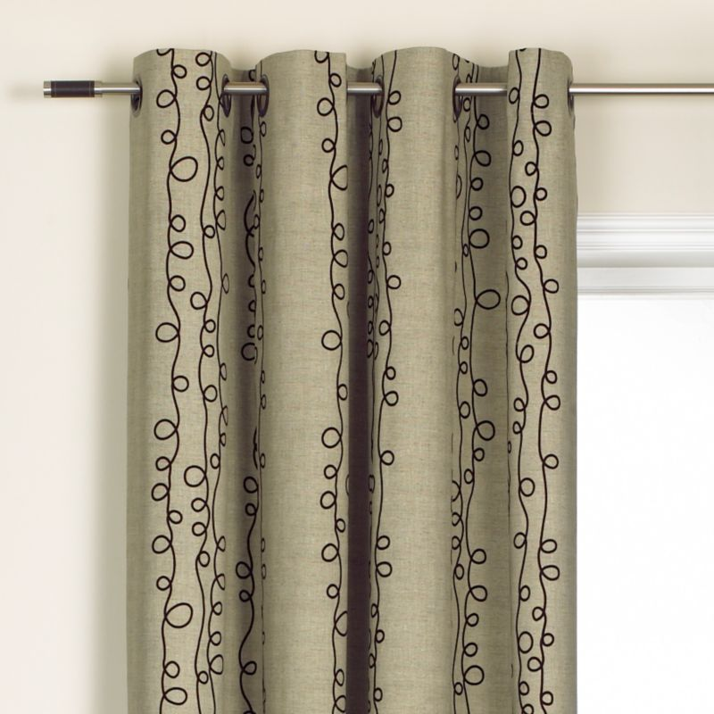 Colours by BandQ Allegra Eyelet Curtains Taupe Mix