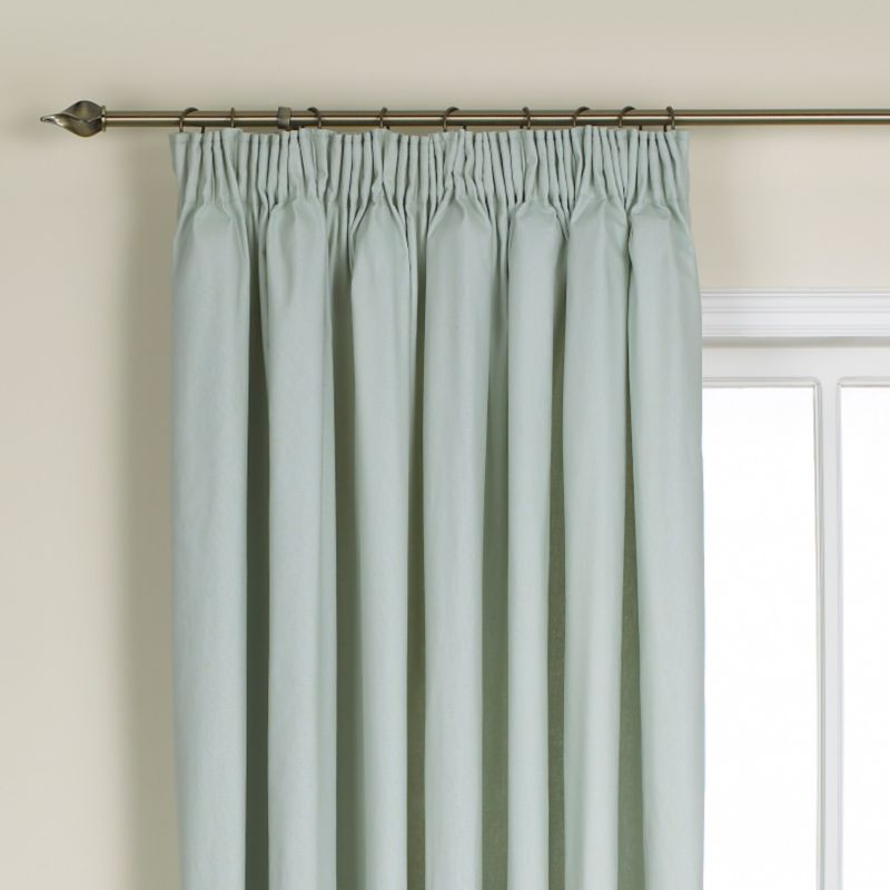 Colours by BandQ Mali Pleated Curtains Duck Egg