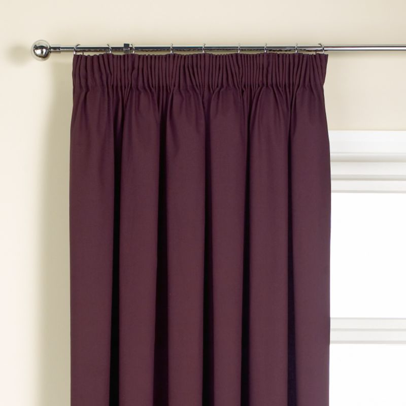 Colours by BandQ Mali Pleated Curtains Aubergine