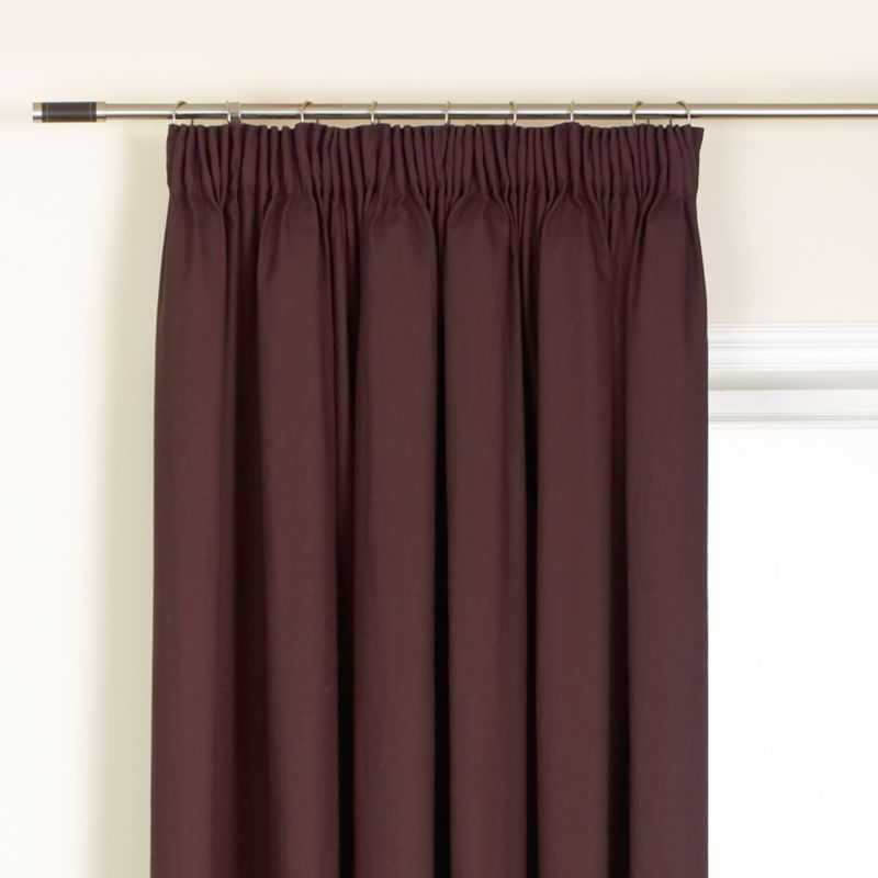 Colours by BandQ Mali Pleated Curtains Chocolate