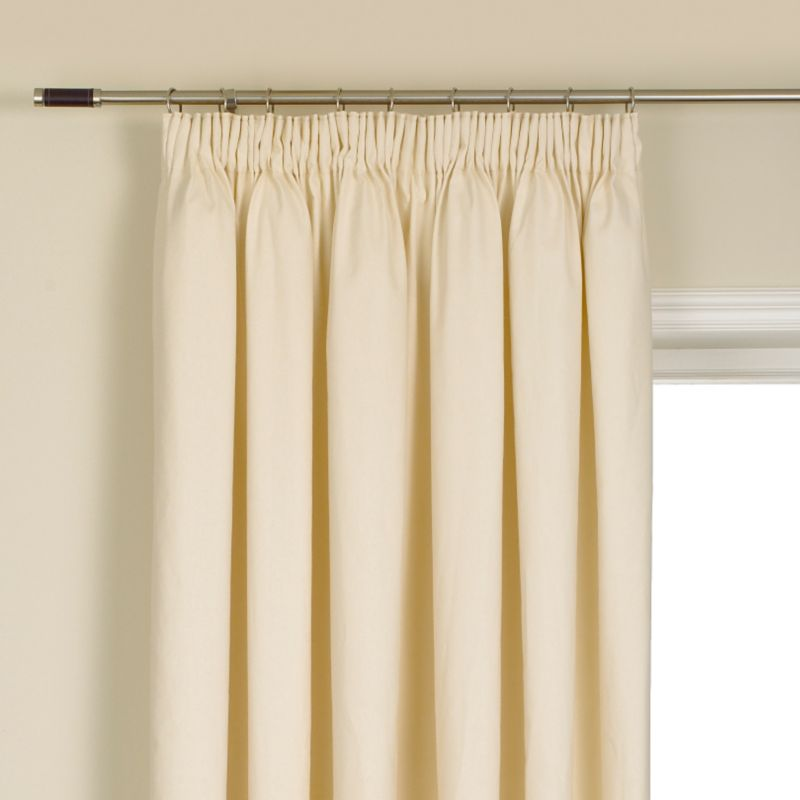 Colours by BandQ Mali Pleated Curtains Natural