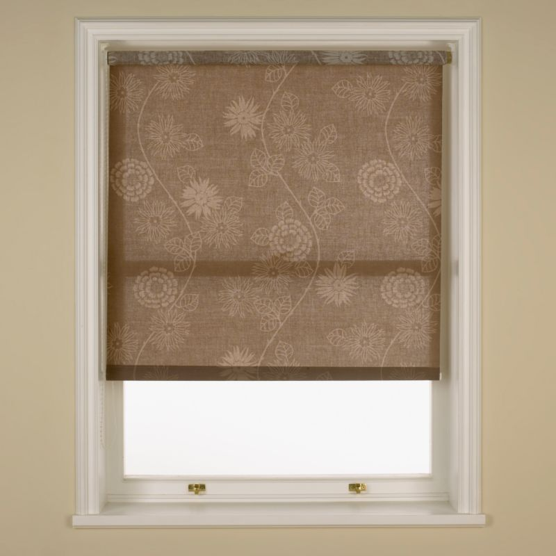 Colours by BandQ Portia Roller Blind Chocolate