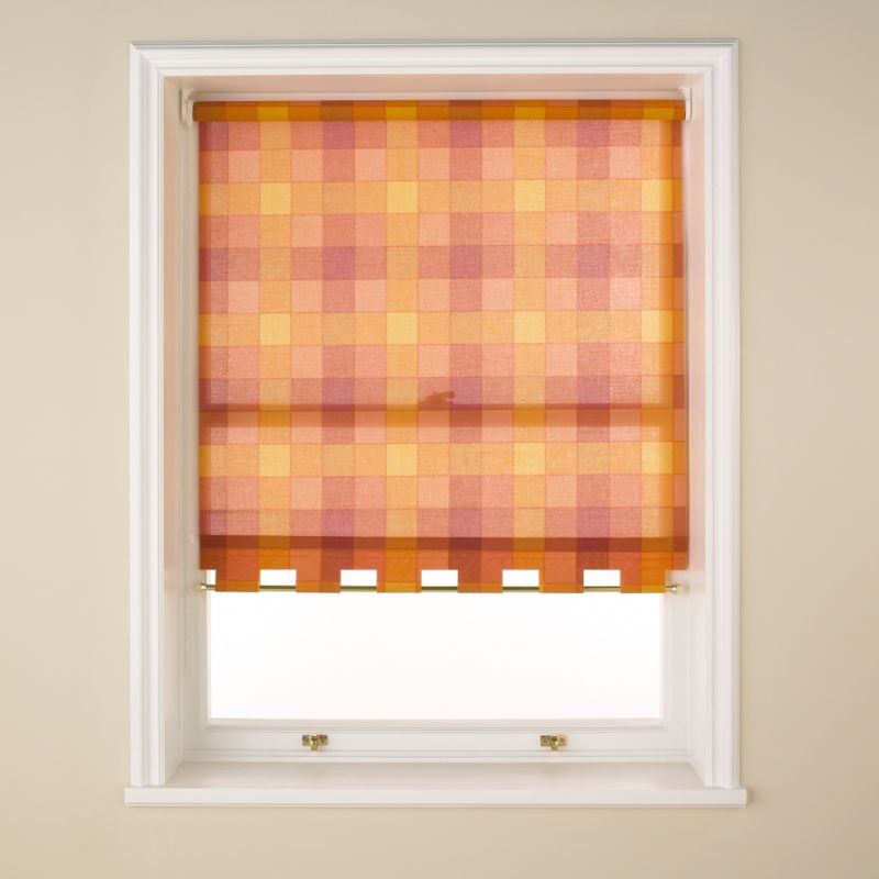 Colours by BandQ Check Roller Blind Terracotta