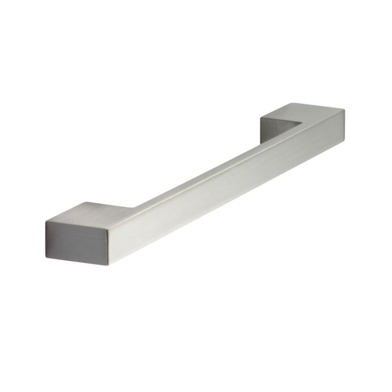 Square Bar Handle Brushed Nickel Finish Pack of 2