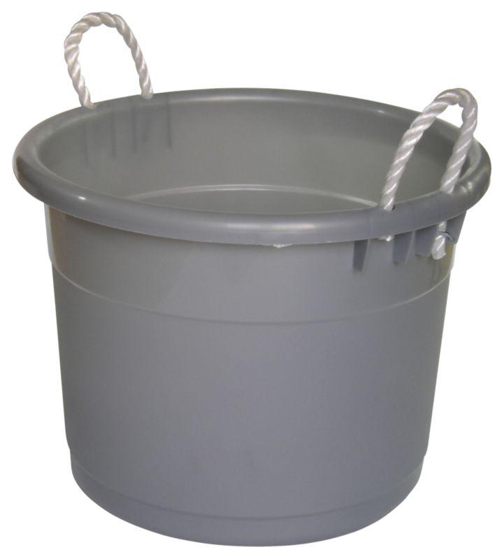 BandQ Core Tub Silver Effect Medium