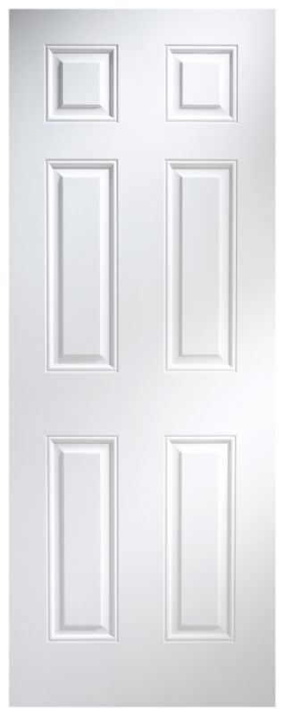 B Q Broadland Plus Pre Painted Door Nat23btnhw White Woodgrain Effect H 1981 X W 686 X D 35mm