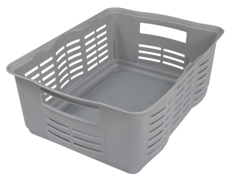 BandQ Core Basket (Includes Lid) Silver Effect