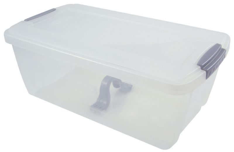 BandQ Core Media Box (Includes Lid) Clear Large