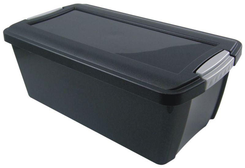 BandQ Core Media Box (Includes Lid) Black Large