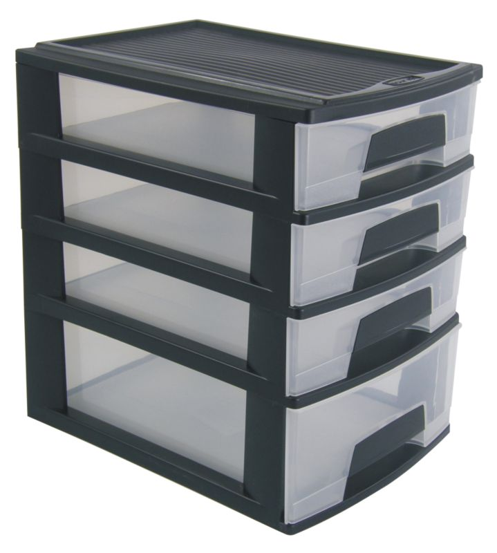 BandQ Core Mini Tower 4 Drawer (Includes Lid)