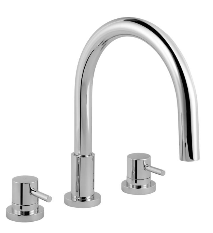 Minima 3 Tap Hole Bath Filler Chrome Effect