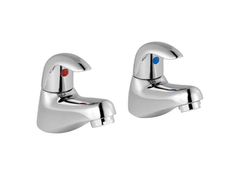 Wave Bath Taps Chrome Effect