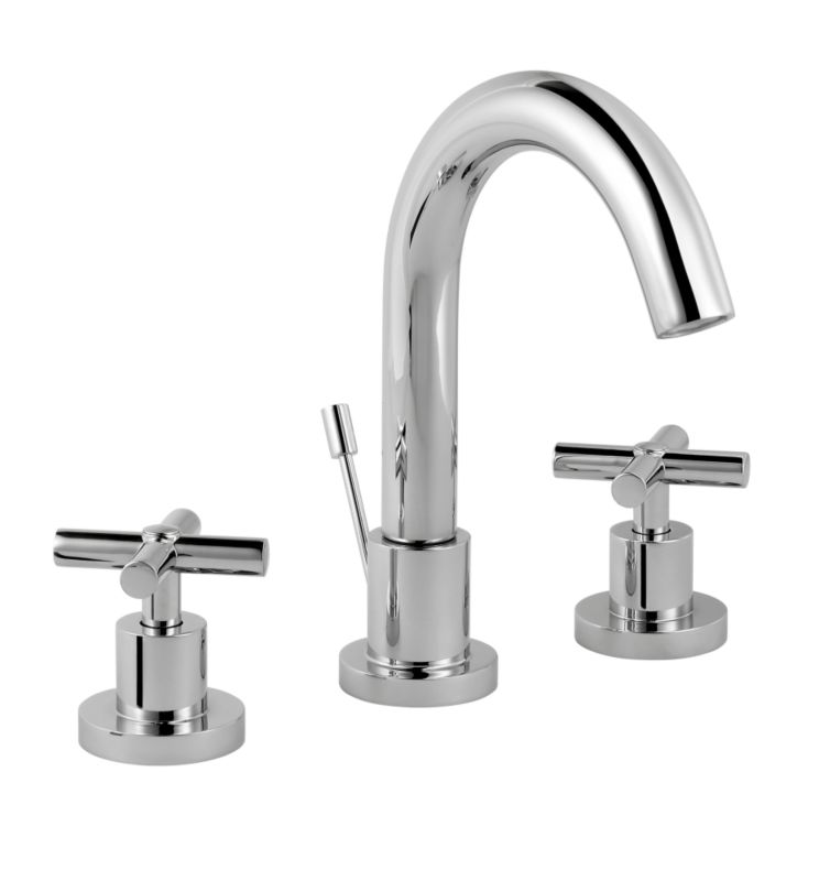 Quattre 3 Tap Hole Basin Mixer Chrome